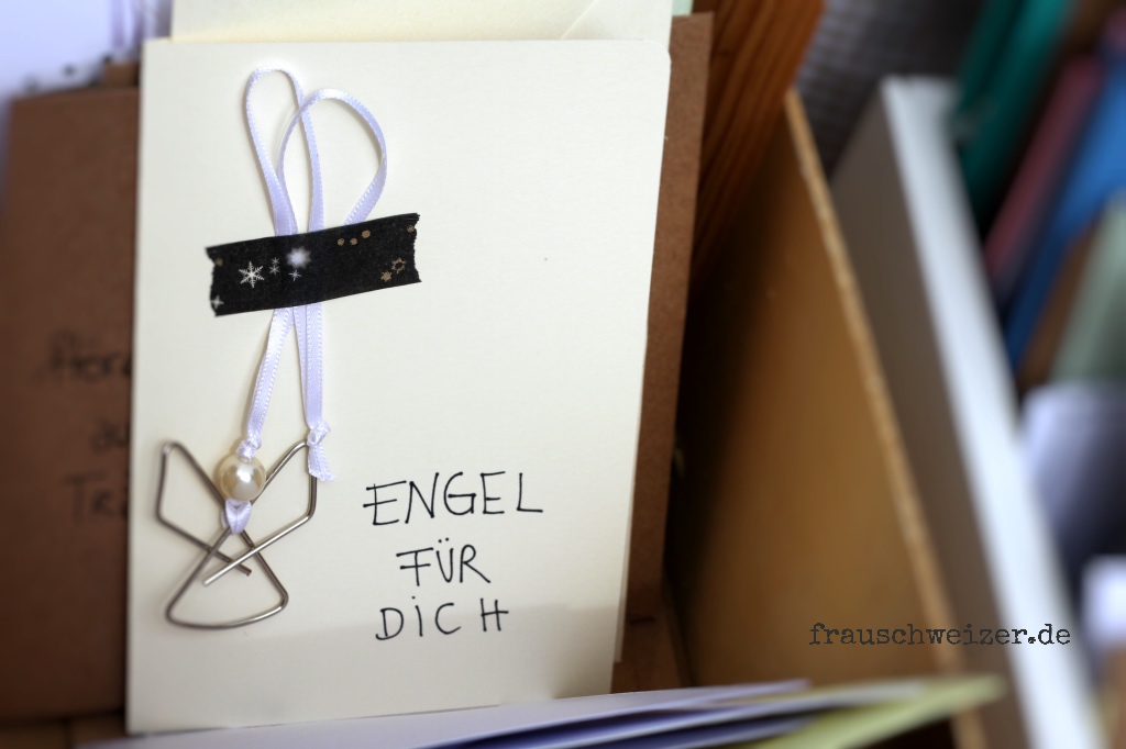 Karte, card, engel, schutzengel, handgemacht, handmade