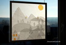DIY Anleitung Winter Fensterbild