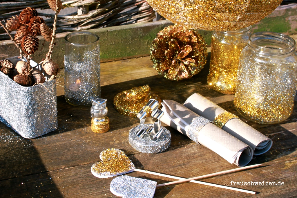 Glamour und glitzer diy f r eine tolle partydekoration for Party utensilien