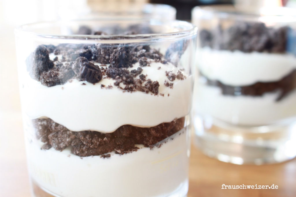 Rezept: Nachspeise Oreocreme, Süsses Dessert