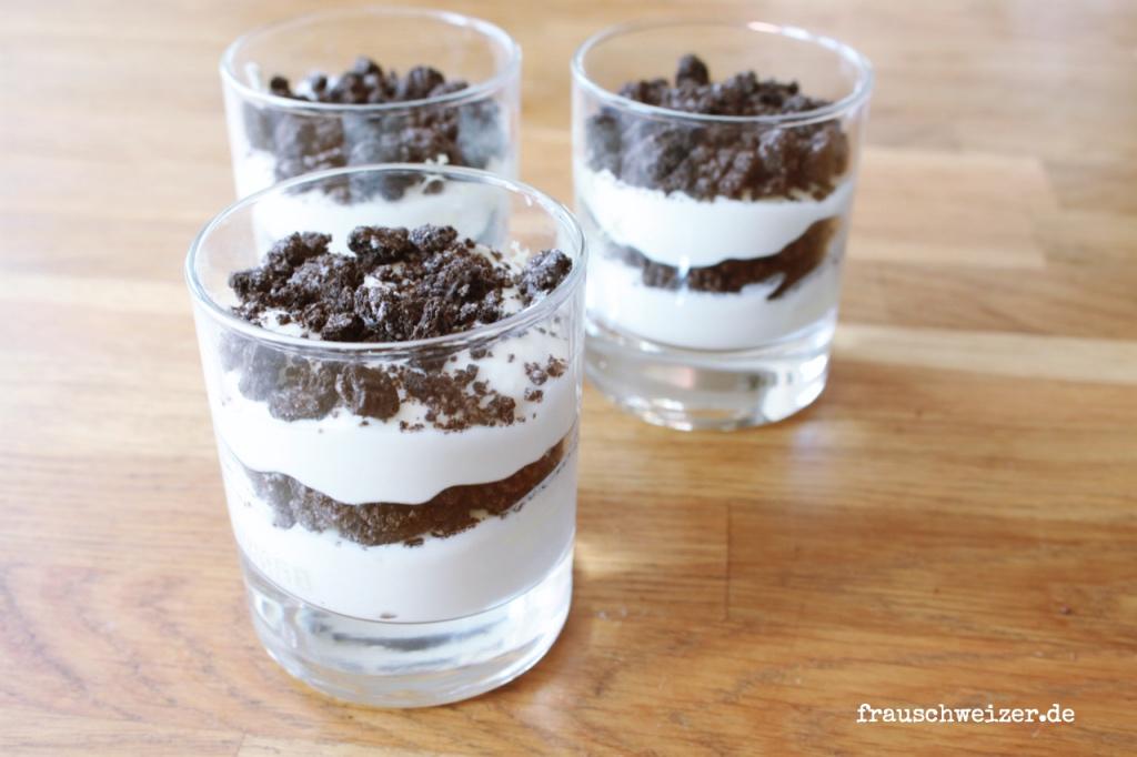 Rezept: Nachspeise Oreo-Creme, Süsses Dessert