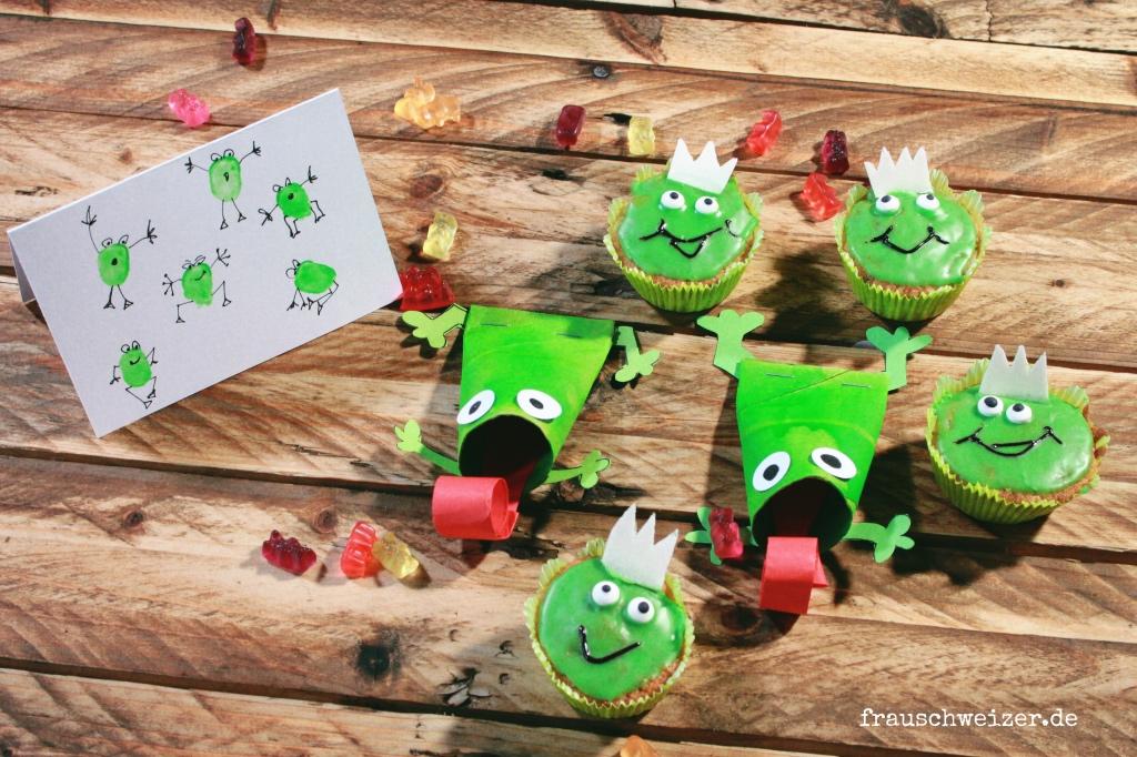 DIY Froschparty Einladung Geburtstag