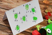 DIY Fingerprint Frosch Kindergeburtstag