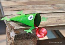 DIY Froscheinladung fuer Kindergeburtstag selber basteln