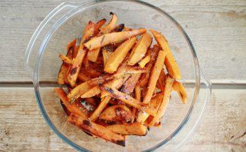 Suesskartoffel Pommes mit Rosmarin und Parmesan Rezept