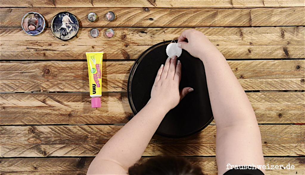 DIY Anleitung besondere Bilderrahmen und Kuehlschrankmagnete selbermachen