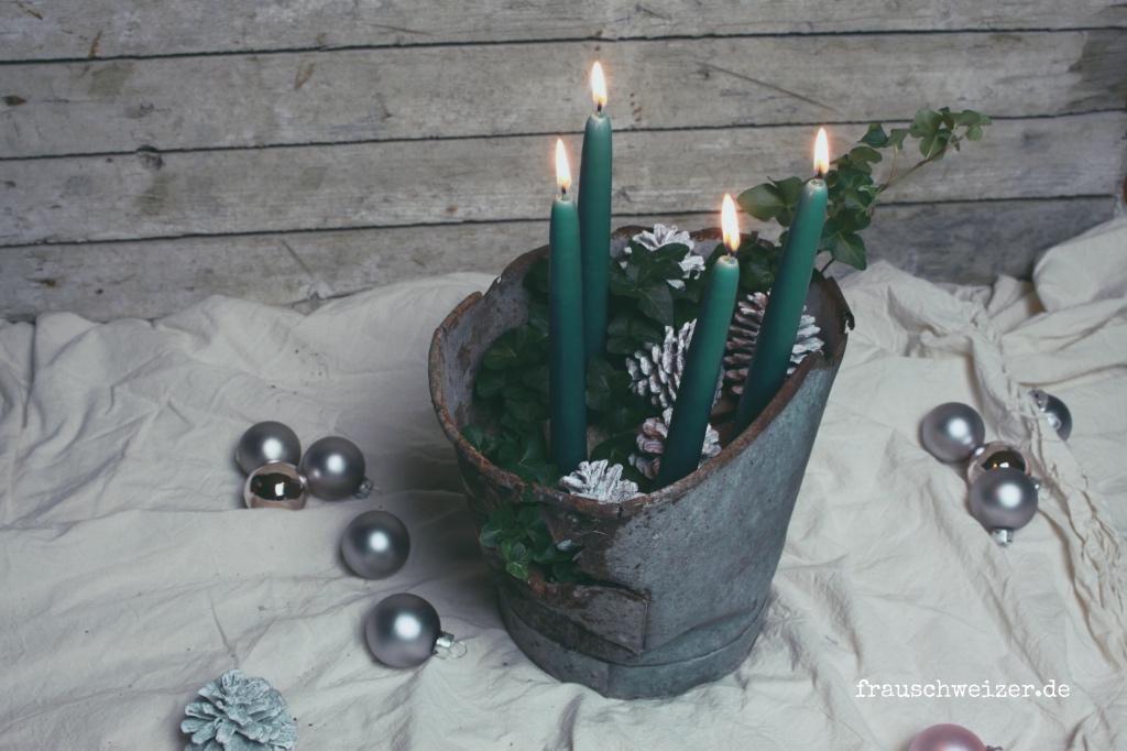DIY Adventskranz selber machen