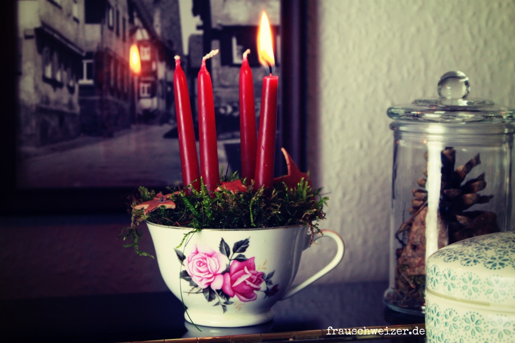 DIY Adventskranz Last minute Weihnachten